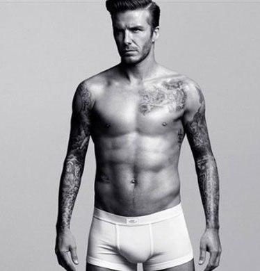 beckham with H & M underwear