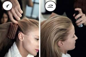 tight ponytail