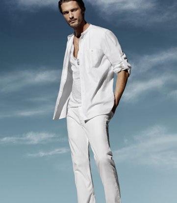 white masculine shirt