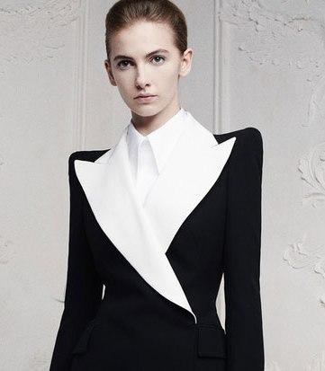 feminine tuxedo