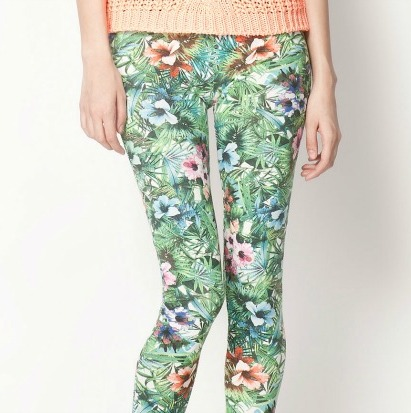 Floral leggings: learn to combine it!