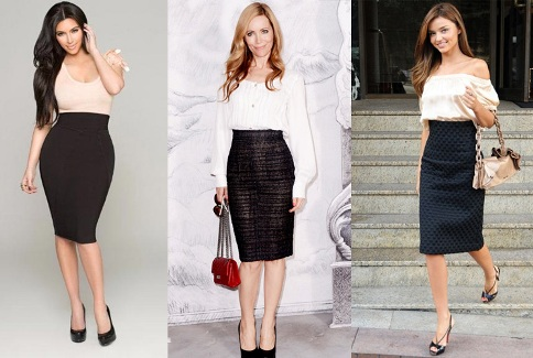 wear pencil skirts