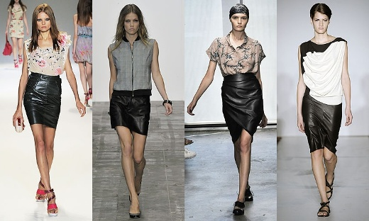 Leather Skirt Fashion Eye