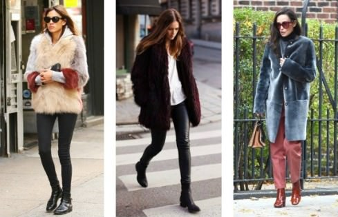wear faux fur coats