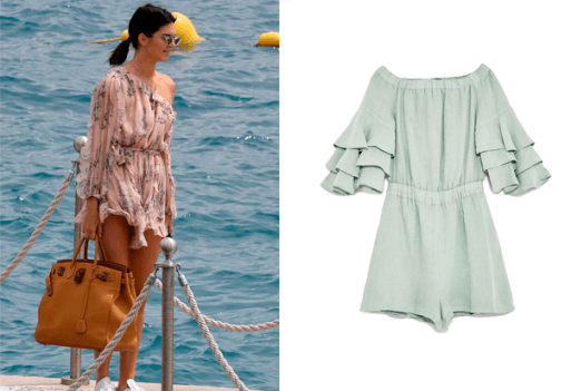 Kendall Jenner beach uniform