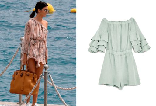 Kendall Jenner beach uniform