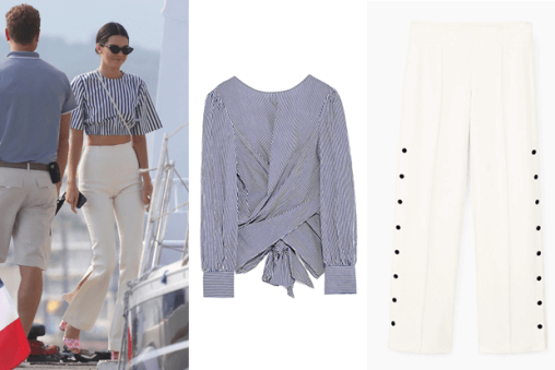 Kendall Jenner sailor look