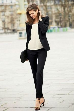 black and white with blazer
