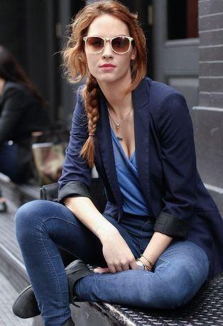 blazer with jeans