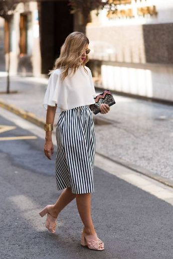 crop top and midi skirt