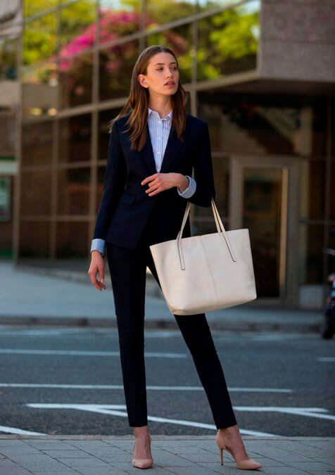 Navy Blue Women Suit