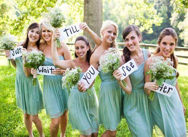 mint color bridesmaids dresses